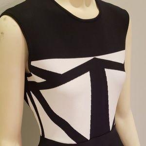 BCBG Max Azria black white bandage dress NWT M